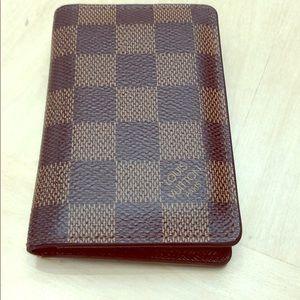 Brown Louis Vuitton Patch Pocket Organizer